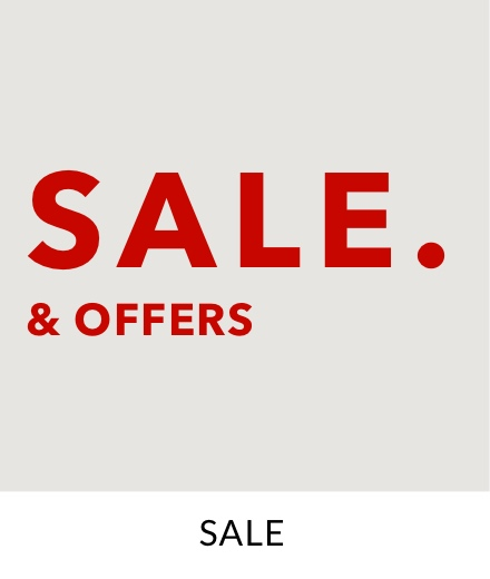 Big red text saying 'Sale & offers'.
