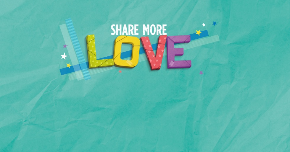 'Share More Love' creative lockup for Father's Day