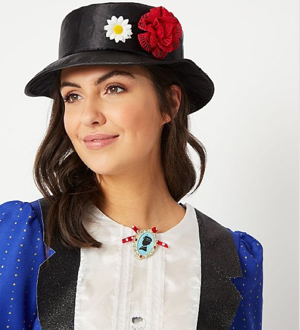 World Book Day - Woman in Mary Poppins fancy dress costume with hat